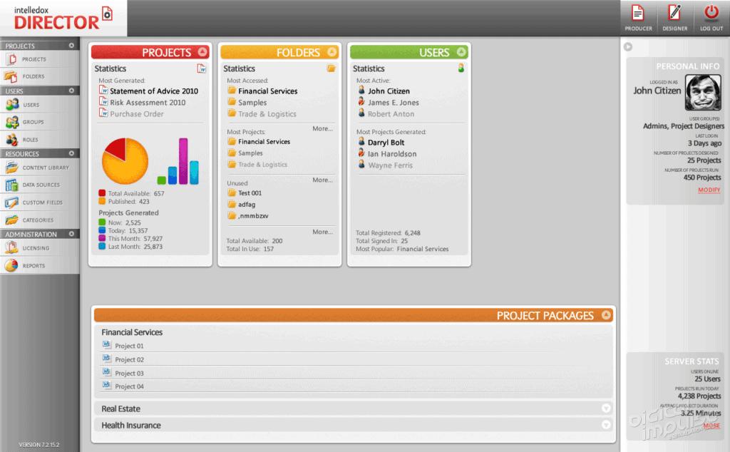 Director 2011 Main Interface image