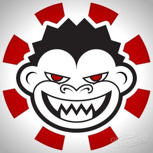 Beast Monkey Head Sticker Design