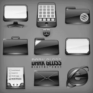 Dark Gloss Icons image