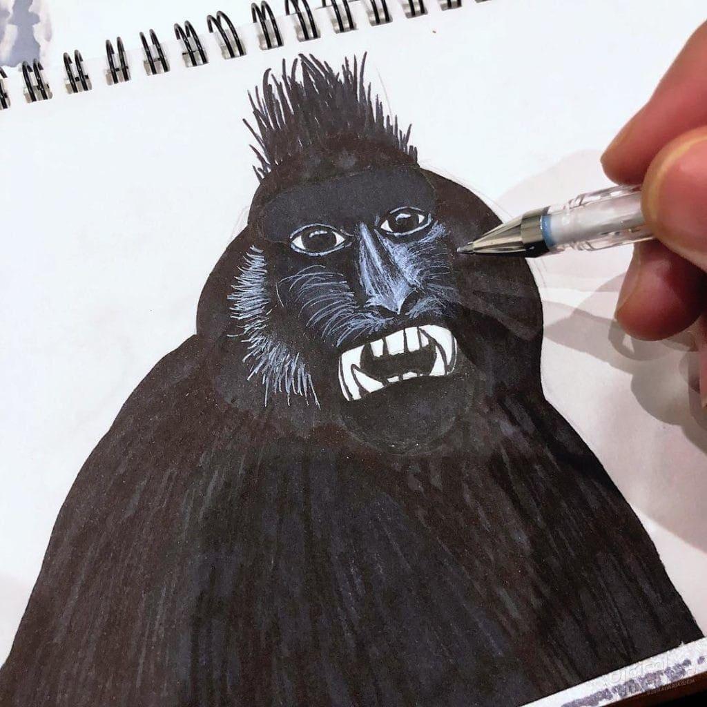 Black Macaque 001 Image
