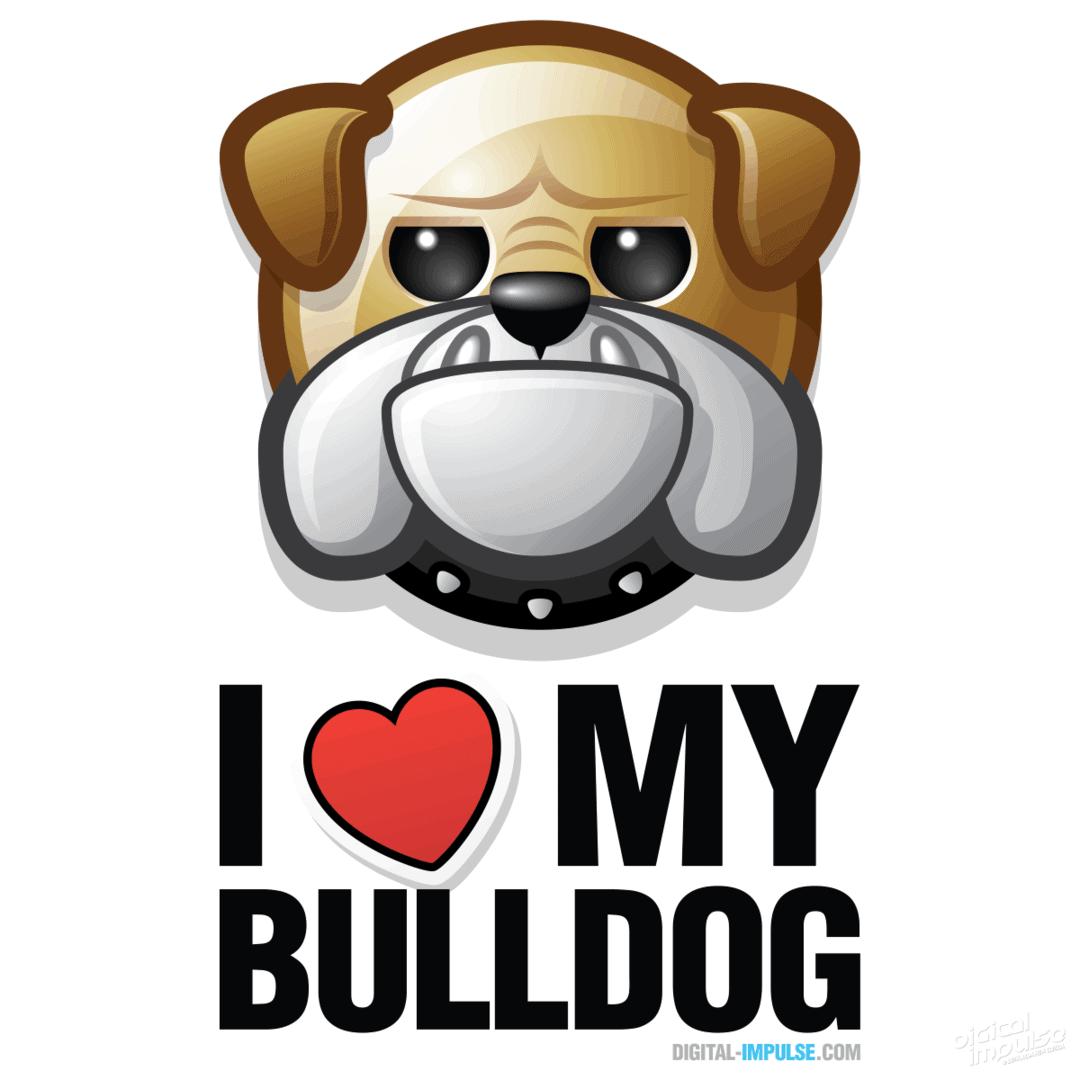 I ❤ My Bulldog Image
