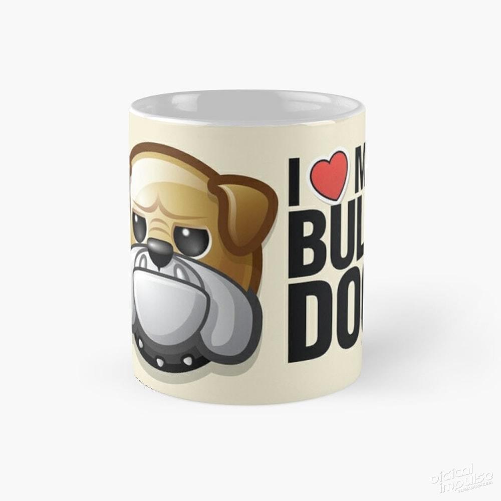 I Love My Bulldog - Mug
