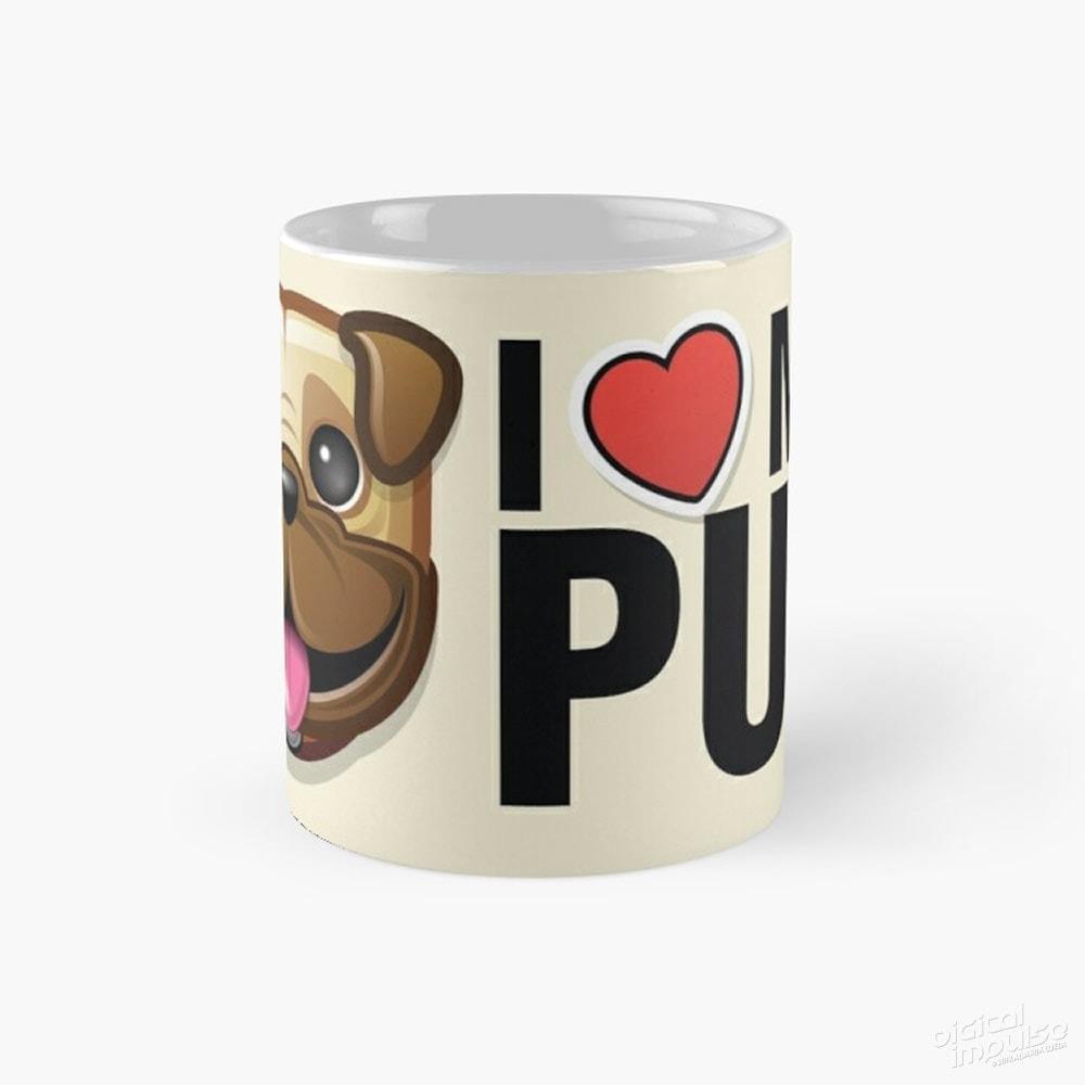 I Love My Pug - Mug
