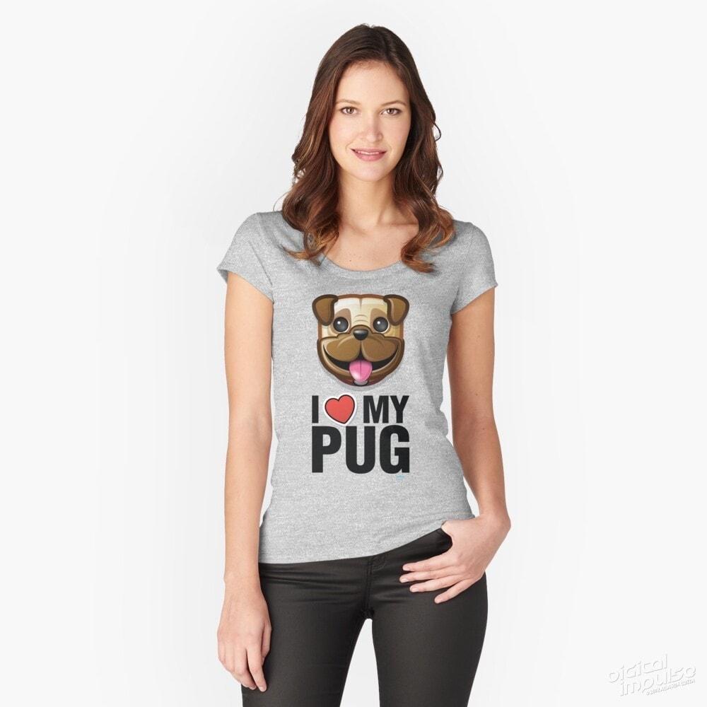 I Love My Pug - Scoop Tee