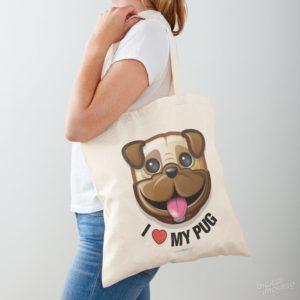 I Love My Pug - Tote
