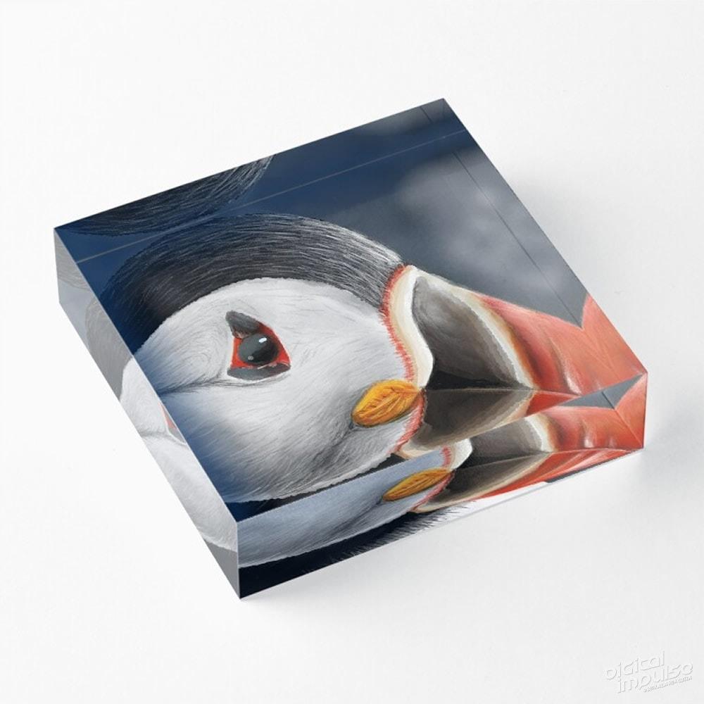 Puffin - Acrylic Block