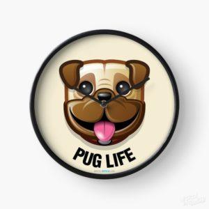 Pug Life - Clock