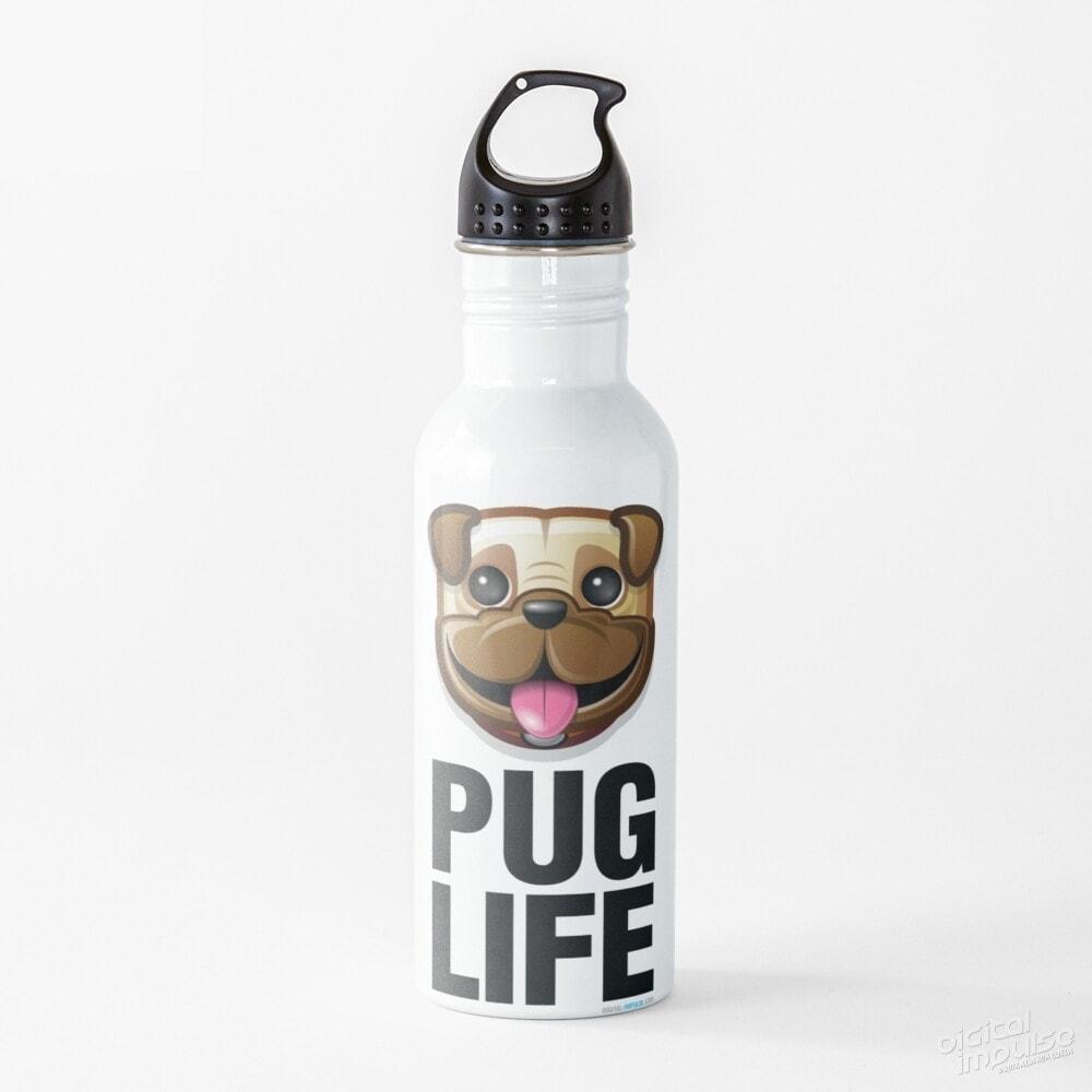 Pug Life - Water Bottle
