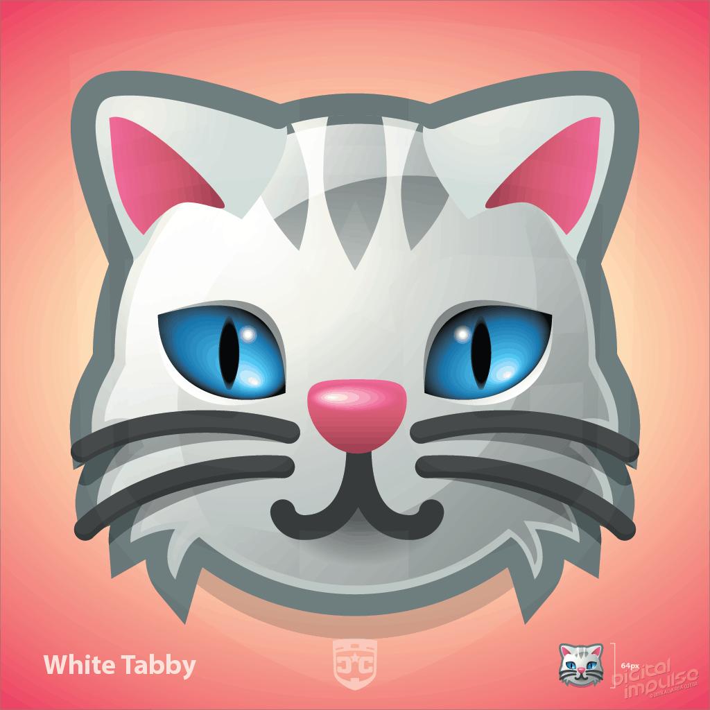 Digi*Cons - White Tabby