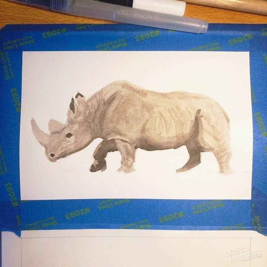 African Black Rhino 03 image
