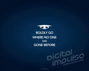 Boldly Go... Wallpaper image