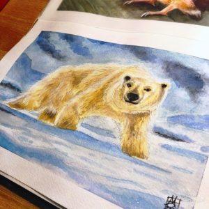 Polar Bear Watercolor image