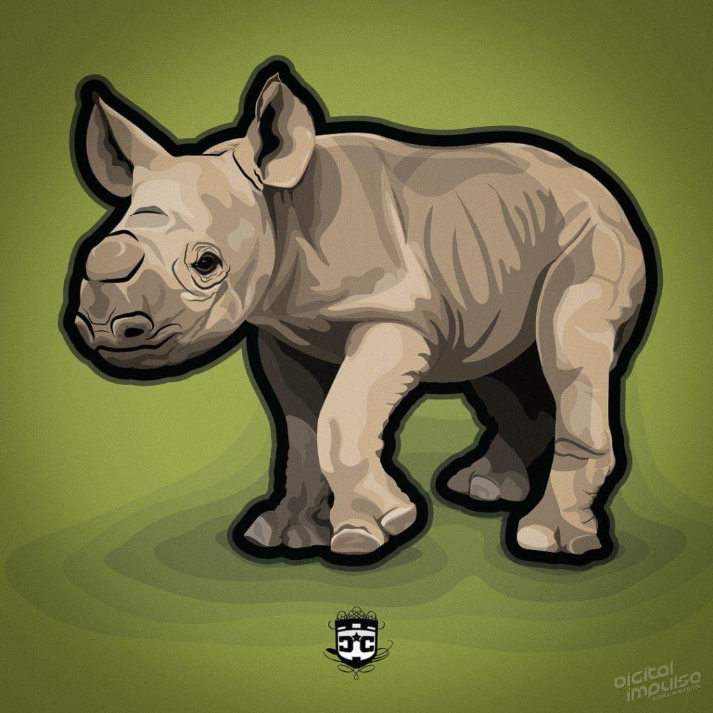 Black Rhino Calf image