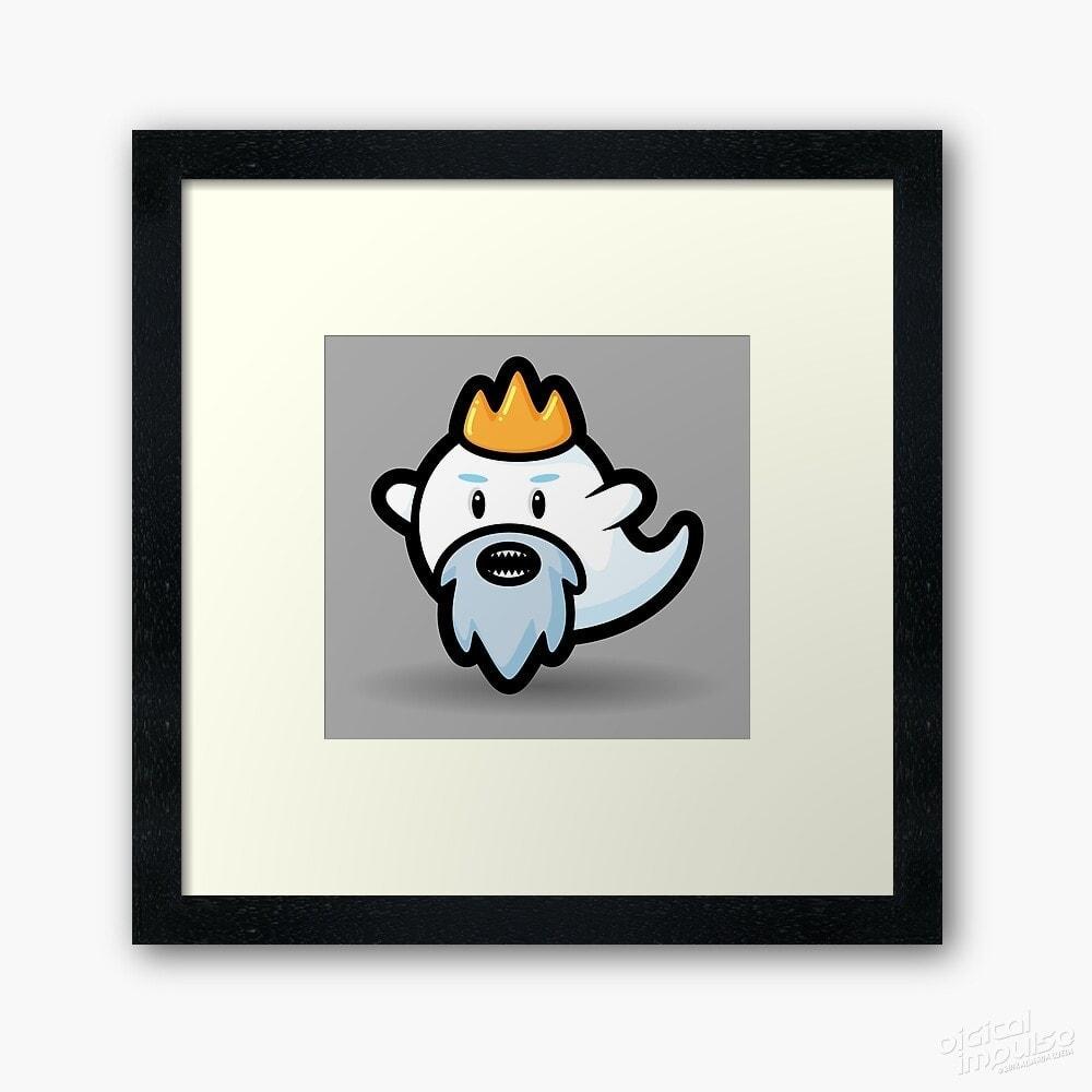 Old Ghost King – Framed Art Print