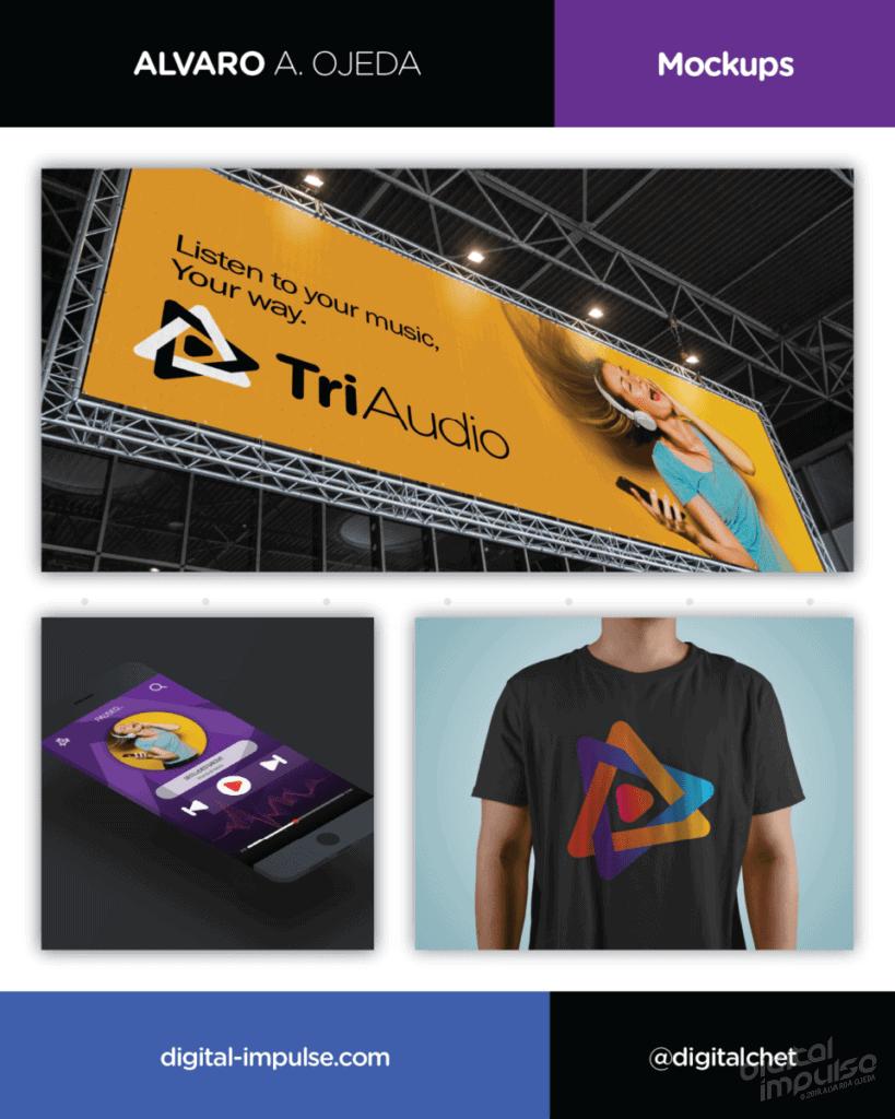 TriAudio Logo Mockups Preview image