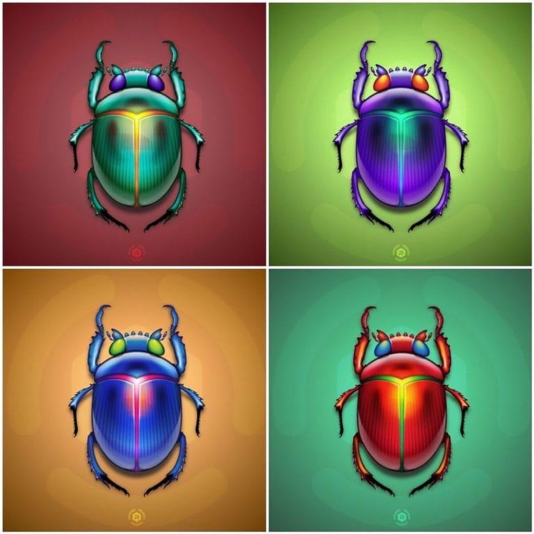 Scarab Beetles Set Illustration Preview image
